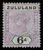 Zululand Queen Victoria imperium 6d SG24 1894