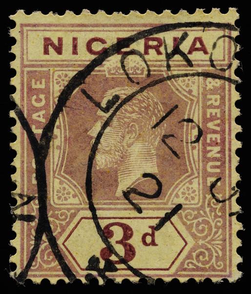 Nigeria KGV imperium 3d SG5a 1915