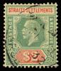 Straits Settlements KGV Imperium $2 postmarked 1932