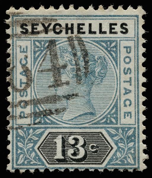 Seychelles Queen Victoria Imperium postage keyplate 13c SG5 1890