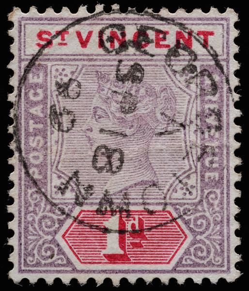 St Vincent Imperium Queen Victoria 1d 1899 SG68 with GEORGETOWN cds