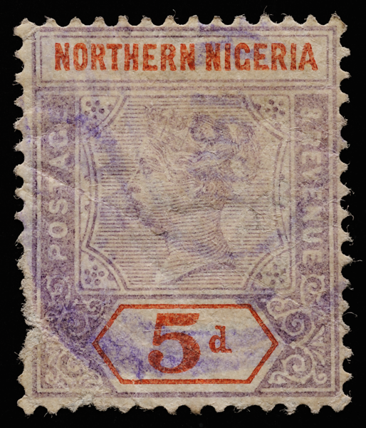 Northern Nigeria Queen Victoria unified keyplate 5d SG5 1900