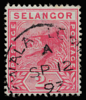 Selangor 1891 Tiger rampant definitive stamp 2c rose