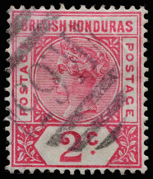 British Honduras Queen Victoria postage keyplate SG52 1891 2c