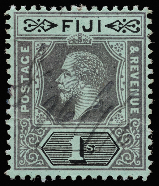 Fiji KGV Imperium SG134 1s with pen cancel