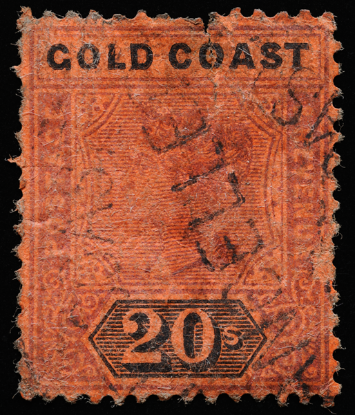 Gold Coast Queen Victoria 20s SG25 1894