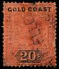 Gold Coast Queen Victoria 20s SG25 1894