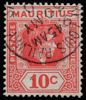 Mauritius KGVI Imperium 10c SG256 1938 Port Louis Railway postmark