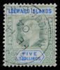 Leeward Islands King Edward VII 5s SG28 postmarked Antigua