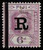 Fiji Imperium King Edward VII 1910 6d with revenue overprint