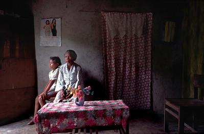 Maria, de moeder van Eugenio Saldhana  copyright: Katrien Mulder