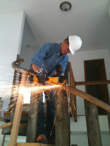 Making the spiral stairs safer