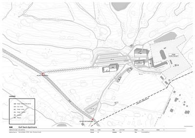14 Golf Saint Apolliniare: Situationsplan