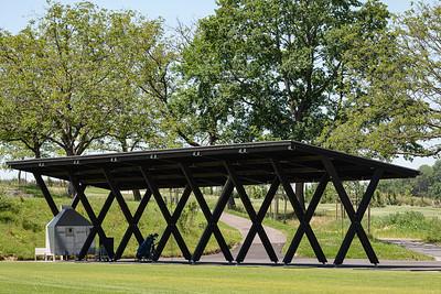 11 Practise Golf Saint Apolliniare: eine simple Konstruktion als Unterstand.