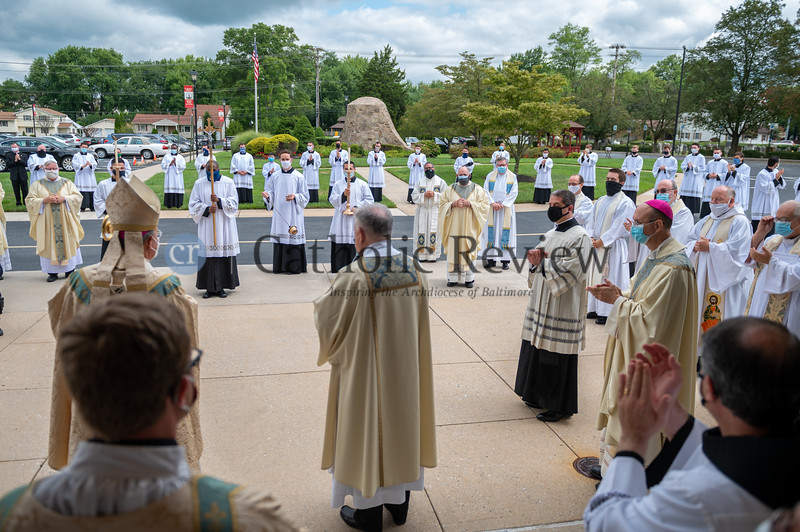 Ordination of Seminarian Scott Kady to the diaconate August 8, 2020 at St. Ignatius Church in Hickory. (Kevin J. Parks/CR Staff)