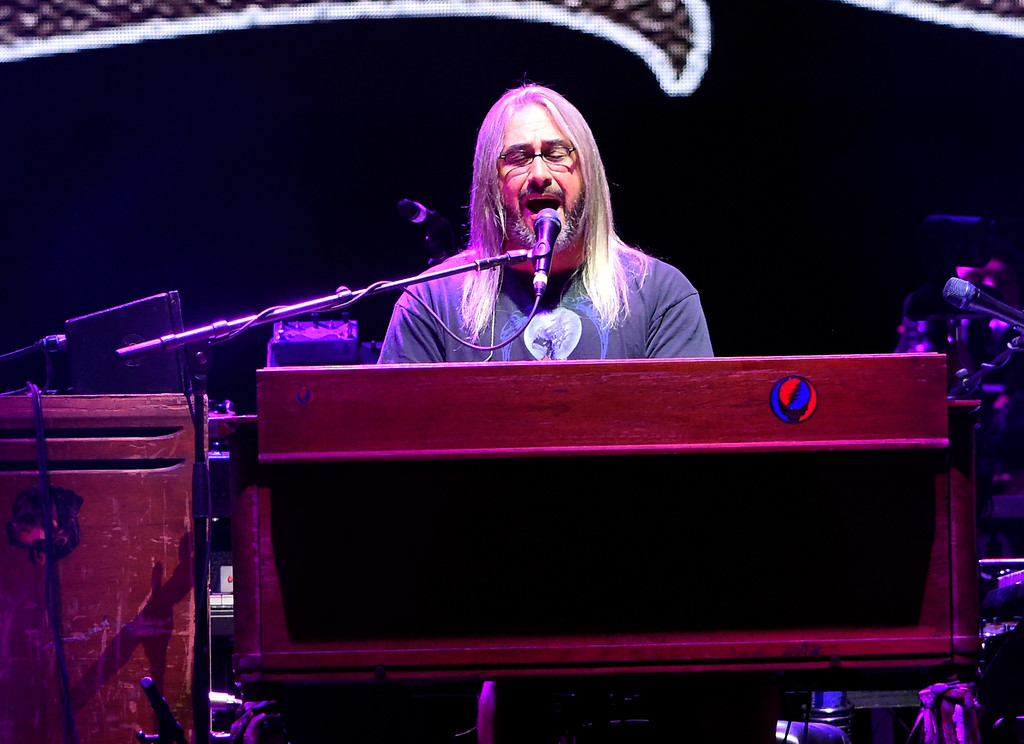 . Jeff Chimenti plays the keyboard during the Dead & Company concert on Friday at Folsom Field on the University of Colorado campus in Boulder. For more photos of the event go to dailycamera.com Jeremy Papasso/ Staff Photographer 07/13/2018