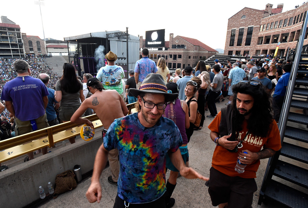 . Prasad Katz, center, dances during the Dead & Company concert on Friday at Folsom Field on the University of Colorado campus in Boulder. For more photos of the event go to dailycamera.com Jeremy Papasso/ Staff Photographer 07/13/2018