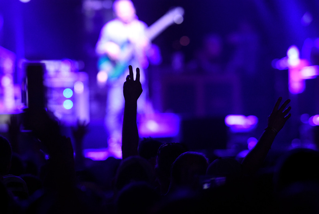 . People hold their hands up in joy during the Dead & Company concert on Friday at Folsom Field on the University of Colorado campus in Boulder. For more photos of the event go to dailycamera.com Jeremy Papasso/ Staff Photographer 07/13/2018