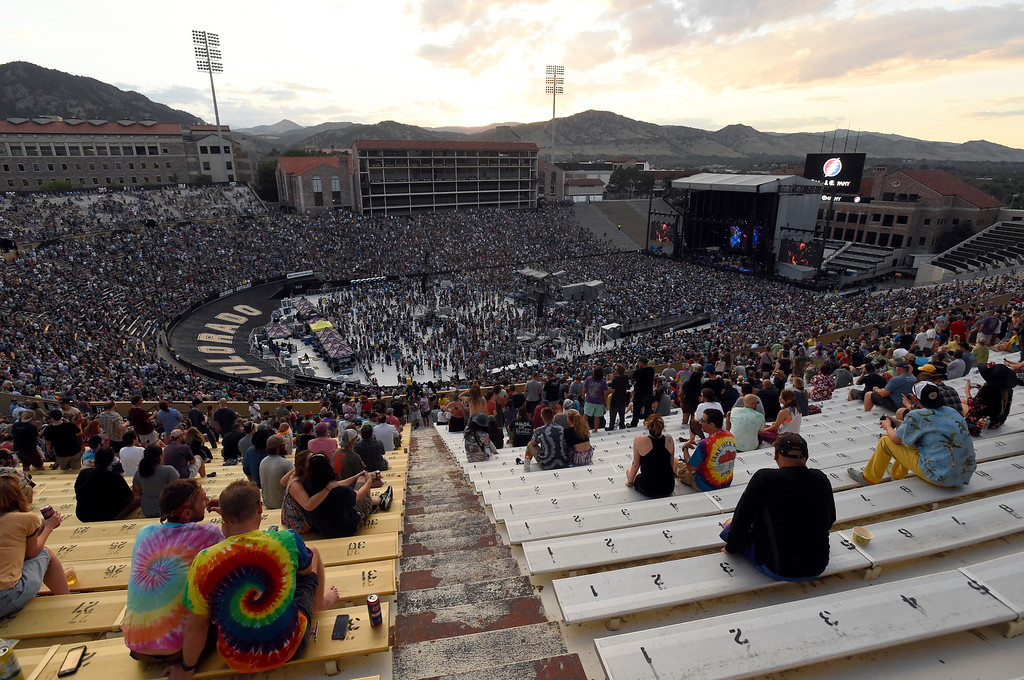 . People watch the Dead & Company concert on Friday at Folsom Field on the University of Colorado campus in Boulder. For more photos of the event go to dailycamera.com Jeremy Papasso/ Staff Photographer 07/13/2018