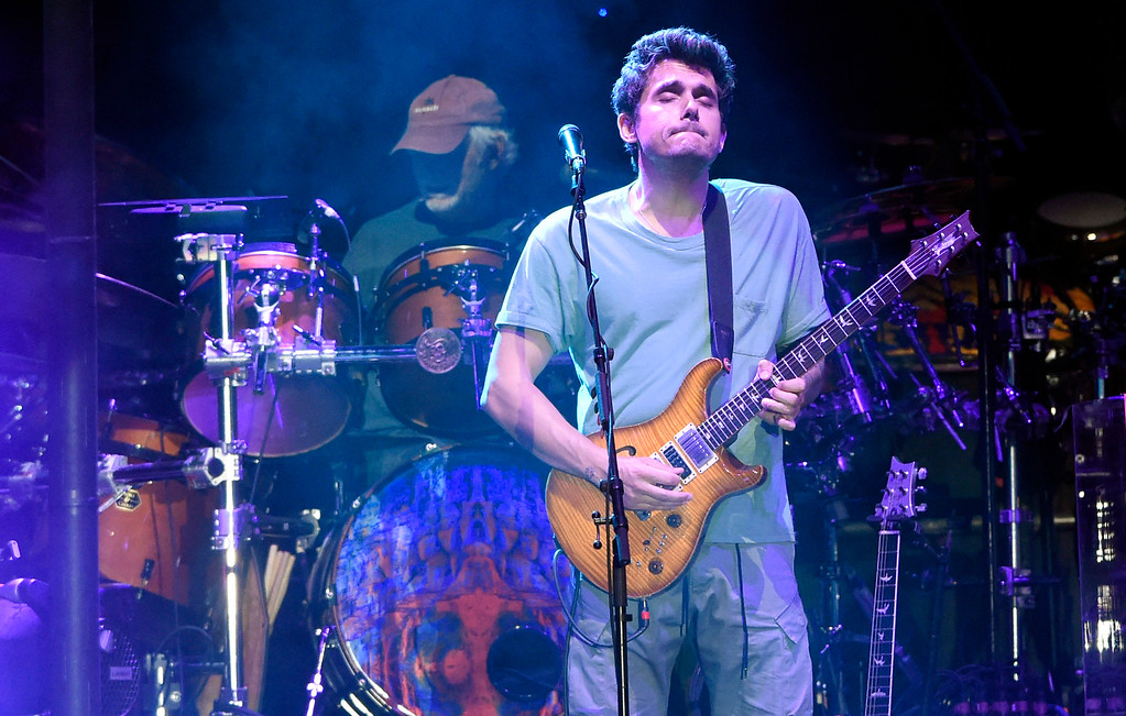 . John Mayer plays the guitar during the Dead & Company concert on Friday at Folsom Field on the University of Colorado campus in Boulder. For more photos of the event go to dailycamera.com Jeremy Papasso/ Staff Photographer 07/13/2018
