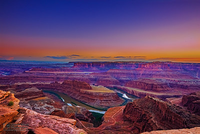 """Water Chisel,"" Sunset over Dead Horse Point and the Colorado River, Dead Horse Point State Park, Utah"