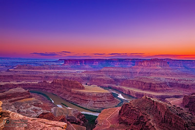 """Sunset Delight,"" Backscattering at Sunset over the Colorado River, Dead Horse Point, Utah"