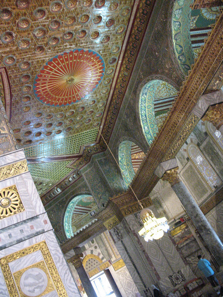 Detail work in Dome of the Rock, Jerusalem