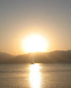 Sunrise over the Red Sea
