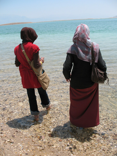 Stepping in the Dead Sea
