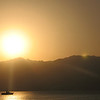 Sunrise over the Mountains of Jordan - Gulf of Aqaba, Red Sea, Sinai Peninsula<br /> Taken from Israel