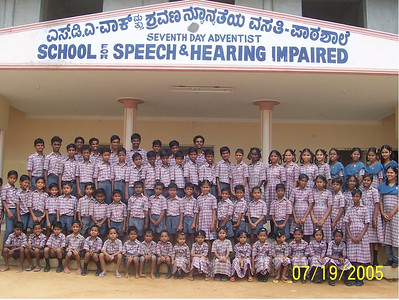 The deaf group of children at the Asian Aid Adventist school for deaf near Kollegal in South India