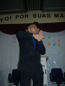 It is so wonderful when deaf in Brazil can sign about Christ in their own Brazilian sign language - one of about 70 different types of Sign Language used around the world.