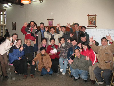 An American interpreter for the Deaf is visiting a group of Christian deaf on the East Coast of China