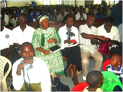 Adventist Deaf at church service in Mombasa, Kenya