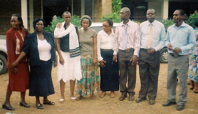 Leaders and workers with the SDA deaf in Kenya assemble for a picture.  Mrs. Witness (2nd left) is helping lead deaf ministry in Kenya.