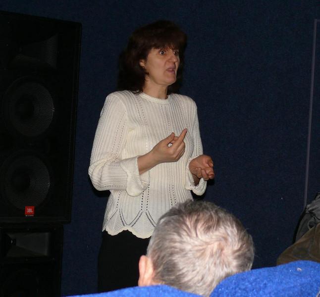 The interpreter at the Evangelistic meetings in Kiev in Dec. /07 when the group from Lvov attended the meetings in Kiev