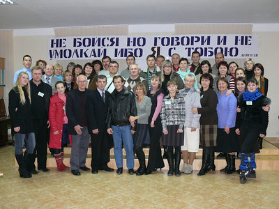 At Russian-Ukraine Congress of Deaf:  These attended the pre-session Interpreter's Training classes