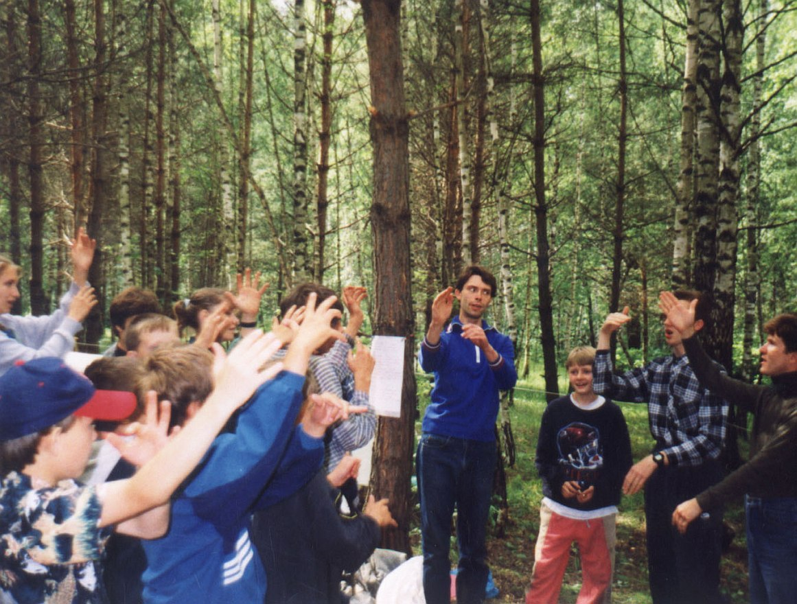 Deaf group at Summer camp in Russia