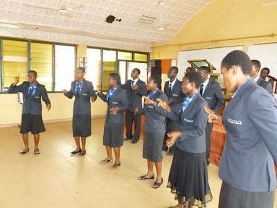 During Pastor Blake's visit to Ghana in Feb/12, a choir came from the Jamasi deaf school and during Sabbath School here gave special music.