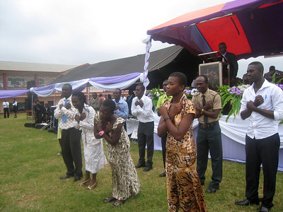 Part of the Deaf Group at a 2011 Camp meeting in Central Ghana