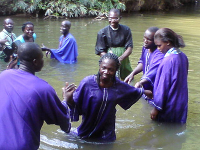 Baptism of Deaf People in the Central Ghana Conference of SDA