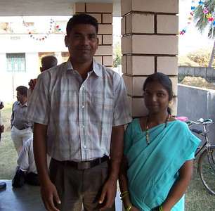 Ashok in 2005 was in a group where a local deaf leader declared that no deaf person in that area could be baptized.  Well, he decided that God's will was first, and requested baptism anyway.  Now he is married and one of our Gospel Outreach workers.  He is shown here with his new wife.