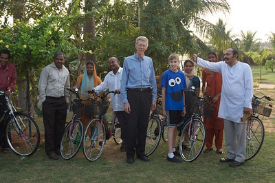 About 40 bicycles were provided from North America - one to each of the Gospel Outreach Lay Bible Workers for the deaf.