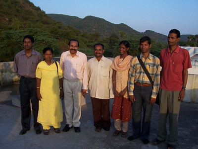 Some of the workers for the deaf sponsored by Gospel Outreach in India.  In this picture 4 are deaf themselves, and three are hearing.  The older man in the white, Pastor Rao, is the area supervisor.  As of June 2007, we are in the process of expanding from about 20 to about 30 workers - mostly sponsored by Gospel Outreach USA and Gospel Outreach Canada.