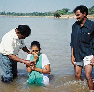 Our camera was allowed to go where we could not, and captured this deaf young ladies baptism by a local pastor.  There were a total of 173 deaf people baptised between nine locations while we were there.  (over 200 deaf baptised in India in the first half of 2007)