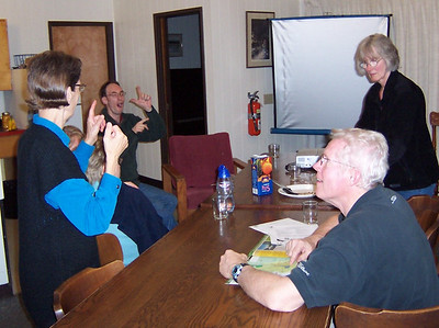 Signing together at one of the three Deaf Ministry Retreats of the Alberta Conference of SDA Deaf Ministry Department.
