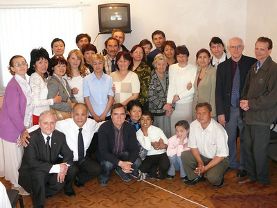 Deaf group in Kyrgyzstan in April/08.  A church begun with 3 deaf in 1993