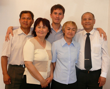 Lady, 2nd from left, given a dream by Jesus (Isa) in 1993.  She wanted to know more and took 2 friends on the right with her to learn.  Today, she, her friends and husband love Jesus - all four are deaf.  Her son, (center back) was Blake's translator and friend while in Kyrgyzstan in 08