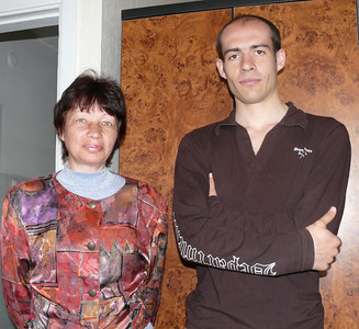 Gospel Outreach worker for deaf- Luba (left) with Alexander Ott, Regional contact
