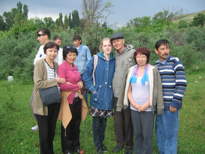 Picnic Day:  Pavel: Man with hat- one of the founders of the Bishkek Adventist church for the Deaf. Luba: 2nd from right- the Gospel Outreach worker for the deaf